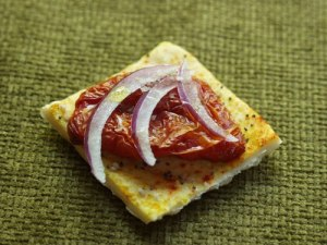SLow Roasted Tomato on Lavash Cracker