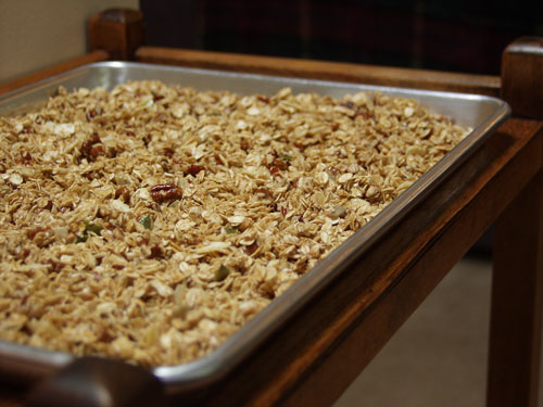 granola-on-pan